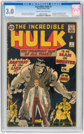 Silver Age (1956-1969):Superhero, The Incredible Hulk #1 (Marvel, 1962) CGC GD/VG 3.0 Cream tooff-white pages....
