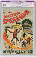 Silver Age (1956-1969):Superhero, The Amazing Spider-Man #1 (Marvel, 1963) CGC Apparent VG 4.0 Slight (A) Cream to off-white pages....