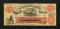 Confederate Notes:1861 Issues, XX-1/C1, Back F $20 Female Riding Deer Bogus Note. . ...