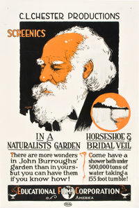 "John Burroughs Screenics Educational Short (Educational, 1918). One Sheet (27"" X 41"")"