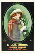 "Movie Posters:Drama, Gloria's Romance (K-E-S-E Service, 1916). One Sheet (27"" X 41"")""The Floating Trap."". ..."