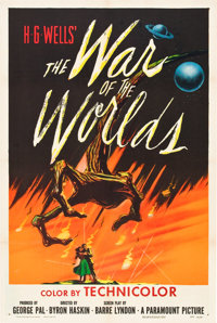 "The War of the Worlds (Paramount, 1953). One Sheet (27"" X 41"")"