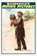 """Movie Posters:Short Subject, Barnsdale's Moving Pictures (Barnsdale, 1905). One Sheet (27"""" X41"""").. ..."""