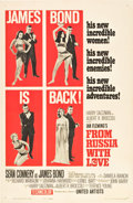 "Movie Posters:James Bond, From Russia with Love (United Artists, 1964). One Sheet (27"" X 41"") Style B.. ..."