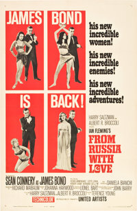 """From Russia with Love (United Artists, 1964). One Sheet (27"""" X 41"""") Style B"""