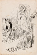 Mainstream Illustration, JAMES MONTGOMERY FLAGG (American, 1877-1960). FOB VirginIslands. Ink on board. 22 x 16 in.. Initialed lower right. ...