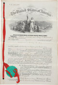 Military & Patriotic:Indian Wars, Firearms: Original Letters Patent for Improvements to the Forehand & Wadsworth Revolver, June 27, 1871, #116422....