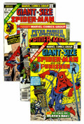 Bronze Age (1970-1979):Superhero, Giant-Size Spider-Man/Spectacular Spider-Man Group (Marvel, 1974-77) Condition: Average NM-.... (Total: 8 Comic Books)