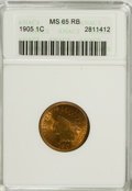Indian Cents: , 1905 1C MS65 Red and Brown ANACS. NGC Census: (138/12). PCGS Population (48/0). Mintage: 80,719,160. Numismedia Wsl. Price ...