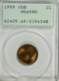 Lincoln Cents: , 1909 VDB 1C MS65 Red PCGS. PCGS Population (3891/1950). NGC Census: (2012/1152). Mintage: 27,995,000. Numismedia Wsl. Price...