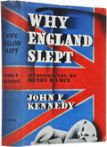 Books:Signed Editions, John F. Kennedy. Why England Slept. New York: Wilfred Funk,1940.. First edition, first printing. Inscribed ...