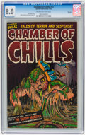 Golden Age (1938-1955):Horror, Chamber of Chills #12 File Copy (Harvey, 1952) CGC VF 8.0 Cream tooff-white pages....