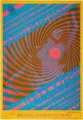 "Music Memorabilia:Posters, The Doors ""Swirley"" Avalon Concert Poster FD-57 (Family Dog, 1967).. ..."