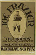 Music Memorabilia:Posters, Joe Frazier and the Champs Winterland Concert Poster (1971)....