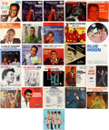 Music Memorabilia:Recordings, R&B Icons 45 w/Picture Sleeves and EP Group (1950-67).... (Total: 26 Items)