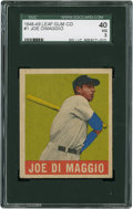 Baseball Cards:Singles (1940-1949), 1948-49 Leaf Joe DiMaggio #1 SGC 40 VG 3....