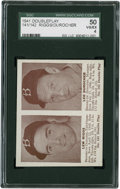 Baseball Cards:Singles (1940-1949), 1941 Double Play Lew Riggs-141/Leo Durocher-142 SGC 50 VG/EX 4....
