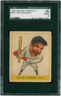 Baseball Cards:Singles (1930-1939), 1938 Goudey Joe DiMaggio #250 SGC 30 Good 2....