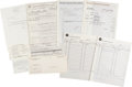 Music Memorabilia:Documents, The Doors Studio Recording Documents and Robby Krieger's Selective Service Documents.... (Total: 9 )