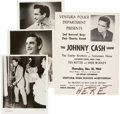 Music Memorabilia:Photos, Johnny Cash Promo Photos and Vintage Poster.... (Total: 4 )