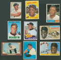 Baseball Cards:Lots, 1950's-60's Topps, Bowman & Bazooka Willie Mays (HoF)Collection (9). ...