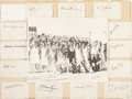 Autographs:Others, 1931 U.S. Tennis Championships Signed Display. ...