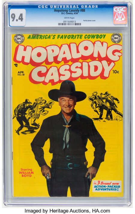 Hopalong Cassidy #88 (DC, 1954) CGC NM 9.4 White pages....