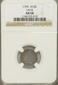 Early Half Dimes, 1795 H10C AU58 NGC. LM-8. NGC Census: (89/119). PCGS Population(48/123). Mintage: 78,600. Numismedia Wsl. Price for NGC/PC...