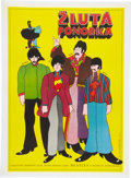 Music Memorabilia:Posters, The Beatles Yellow Submarine Czech Movie Poster (1971)....