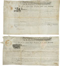 "Autographs:Statesmen, Thomas Mifflin Land Patent Signed (1796, ""Tho Mifflin"") andThomas McKean Land Patent Signed (1805, ""Tho M:K... (Total: 2Items)"