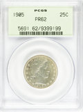 Proof Barber Quarters: , 1905 25C PR62 PCGS. PCGS Population (34/189). NGC Census: (9/207). Mintage: 727. Numismedia Wsl. Price for NGC/PCGS coin in...