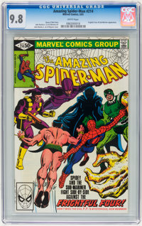 The Amazing Spider-Man #214 (Marvel, 1981) CGC NM/MT 9.8 White pages