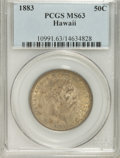 Coins of Hawaii: , 1883 50C Hawaii Half Dollar MS63 PCGS. PCGS Population (58/69). NGCCensus: (32/36). Mintage: 700,000. (#10991)...