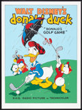 """Movie Posters:Animated, Donald's Golf Game (Circle Fine Art, 1980s). Fine Art Serigraph (22.5"""" X 30.5""""). Animated.. ..."""