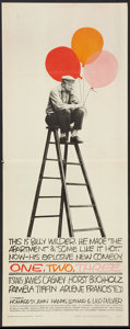 """Movie Posters:Comedy, One, Two, Three (United Artists, 1962). Insert (14"""" X 36""""). Comedy.. ..."""