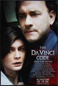 """The Da Vinci Code (Columbia, 2006). One Sheets (2) (27"""" X 40"""") SS Regular and Advance. Thriller. ... (Total: 2..."""