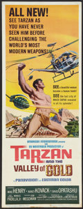 "Movie Posters:Adventure, Tarzan and the Valley of Gold (American International, 1966).Insert (14"" X 36""). Adventure.. ..."