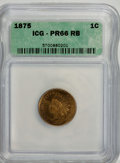 Proof Indian Cents, 1875 1C PR66 Red and Brown ICG....