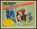 "Movie Posters:Western, King of the Cowboys (Republic, 1943). Lobby Card Set of 8 (11"" X14""). Western.. ... (Total: 8 Items)"
