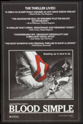 """Movie Posters:Thriller, Blood Simple (Circle Films, 1987). Poster (24"""" X 37""""). Thriller....."""