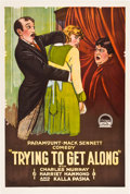"Movie Posters:Drama, Trying to Get Along (Paramount, 1919). One Sheet (27"" X 41"").. ..."