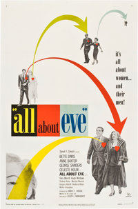 """All About Eve (20th Century Fox, 1950). One Sheet (27"""" X 41"""")"""