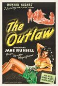 """Movie Posters:Western, The Outlaw (United Artists, 1946). One Sheet (27"""" X 41"""").. ..."""