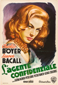 "Movie Posters:Drama, Confidential Agent (Warner Brothers, 1945). Italian Foglio (27.25""X 39.5"").. ..."