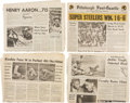 Miscellaneous Collectibles:General, Historic Sports Events Newspapers Lot of 28. ...