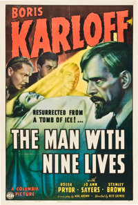 "The Man with Nine Lives (Columbia, 1940). One Sheet (27"" X 41"")"