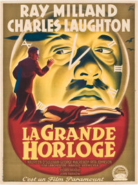 """The Big Clock (Paramount, 1948). French Affiche (23.5"""" X 31.5"""")"""