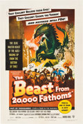 "Movie Posters:Science Fiction, The Beast from 20,000 Fathoms (Warner Brothers, 1953). One Sheet (27"" X 41"").. ..."