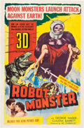 "Movie Posters:Science Fiction, Robot Monster (Astor Pictures, 1953). One Sheet (27"" X 41"") 3-DStyle.. ..."