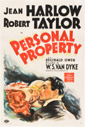 "Movie Posters:Romance, Personal Property (MGM, 1937). One Sheet (27"" X 41"") Style D.. ..."
